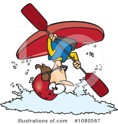 Kayaker Clipart #1080567 by toonaday