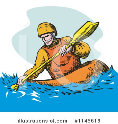 Kayaker Clipart #1145616 by patrimonio