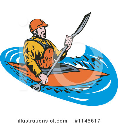 Kayaker Clipart #1145617 by patrimonio