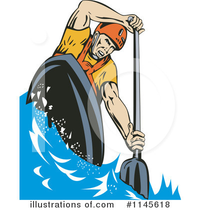 Royalty-Free (RF) Kayaking Clipart Illustration by patrimonio - Stock Sample #1145618