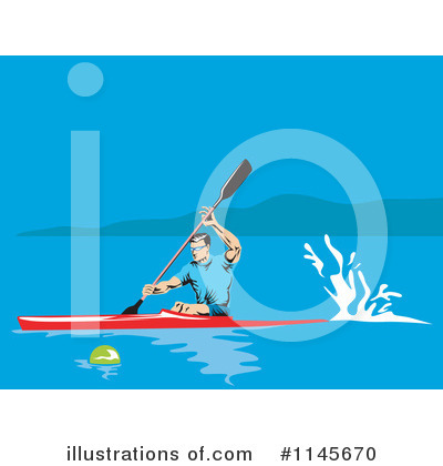 Kayaker Clipart #1145670 by patrimonio