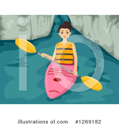 Kayaker Clipart #1269182 by BNP Design Studio