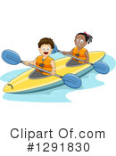 Kayaking Clipart #1291830 by BNP Design Studio