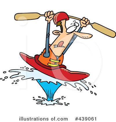 Kayaker Clipart #439061 by toonaday