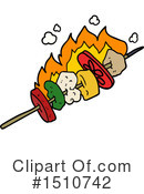 Royalty-Free (RF) Kebab Clipart Illustration #1510742