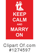 Royalty-Free (RF) Keep Calm Clipart Illustration #1274597