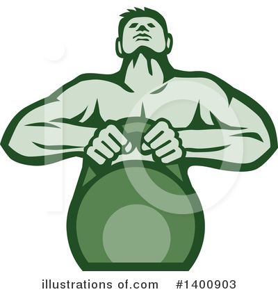 Kettlebells Clipart #1400903 by patrimonio