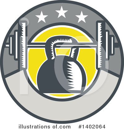 Kettlebells Clipart #1402064 by patrimonio