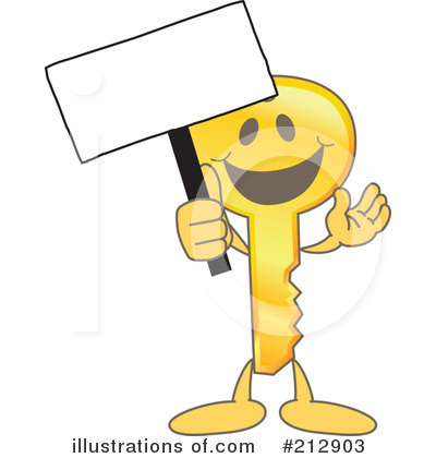 Key Mascot Clipart #212903 by Toons4Biz