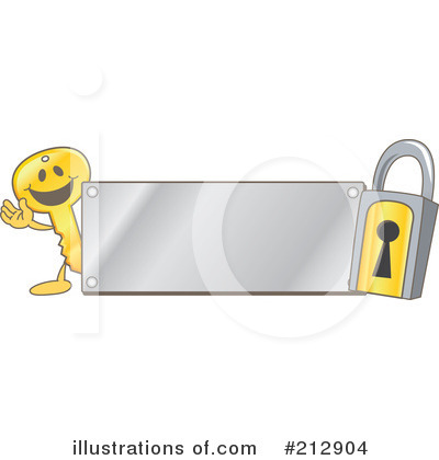 Key Mascot Clipart #212904 by Toons4Biz