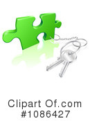 Royalty-Free (RF) keys Clipart Illustration #1086427