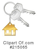 Royalty-Free (RF) Keys Clipart Illustration #215065