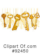 Royalty-Free (RF) Keys Clipart Illustration #92450