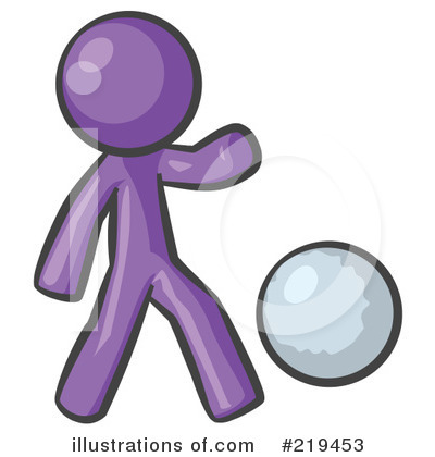Purple Design Mascot Clipart #219453 by Leo Blanchette