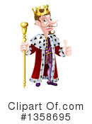 King Clipart #1358695 by AtStockIllustration