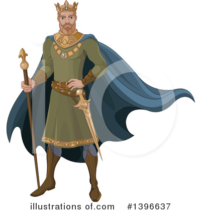 Royalty-Free (RF) King Clipart Illustration by Pushkin - Stock Sample #1396637