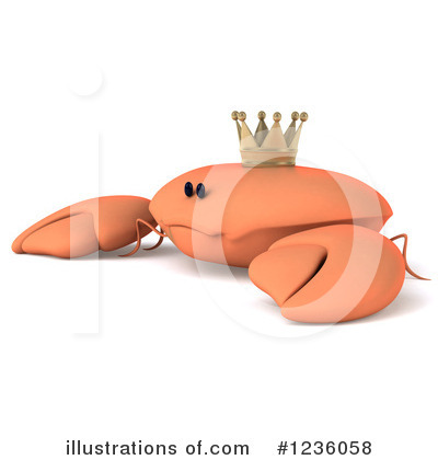 King Crab Clipart #1236058 - Illustration by Julos