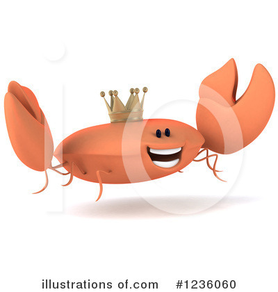 King Crab Clipart #1236060 - Illustration by Julos