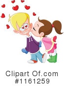 Royalty-Free (RF) kiss Clipart Illustration #1161259