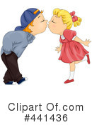 Royalty-Free (RF) kiss Clipart Illustration #441436