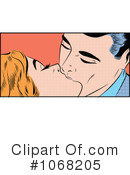 Royalty-Free (RF) kissing Clipart Illustration #1068205