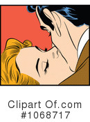 Royalty-Free (RF) kissing Clipart Illustration #1068717