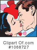 Royalty-Free (RF) kissing Clipart Illustration #1068727