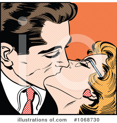 Kissing Clipart #1068730 by brushingup