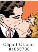 Royalty-Free (RF) kissing Clipart Illustration #1068730