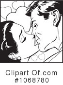 Royalty-Free (RF) kissing Clipart Illustration #1068780