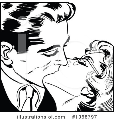 Kissing Couple Clipart #1068797 by brushingup