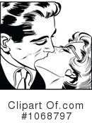 Royalty-Free (RF) Kissing Clipart Illustration #1068797