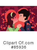 Royalty-Free (RF) Kissing Clipart Illustration #85936