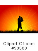 Royalty-Free (RF) kissing Clipart Illustration #90380
