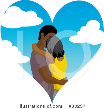 Kissing Couple Clipart #88257 by Rosie Piter