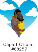 Royalty-Free (RF) Kissing Couple Clipart Illustration #88257