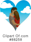 Royalty-Free (RF) kissing couple Clipart Illustration #88258