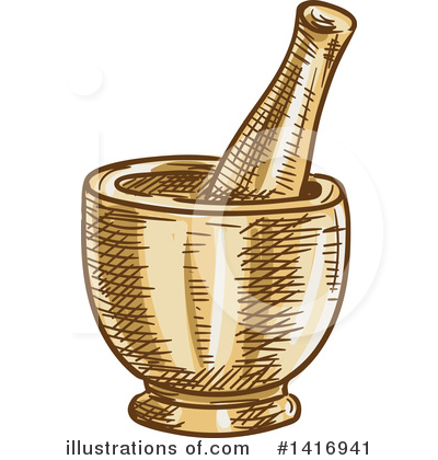 Mortar And Pestle Clipart #1416941 by Vector Tradition SM