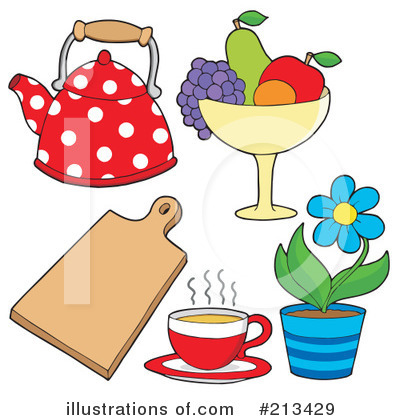 Royalty-Free (RF) Kitchen Clipart Illustration by visekart - Stock Sample #213429