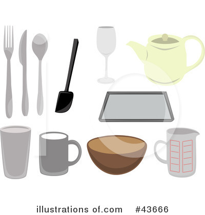 More Clip Art Illustrations of Kitchen Utensils