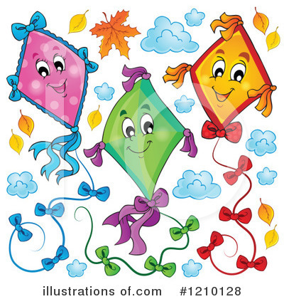 Kite Clipart #1210128 by visekart