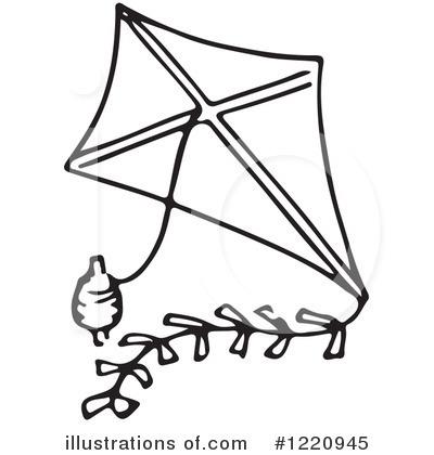 Kite Clipart Black And White
