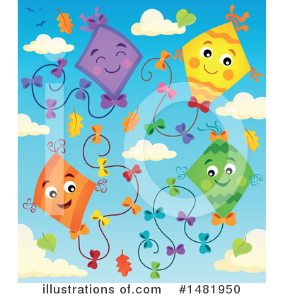Kite Clipart #1481950 by visekart