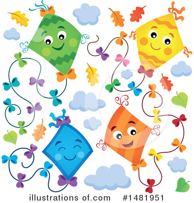 Kite Clipart #1481951 by visekart
