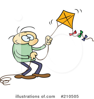Royalty-Free (RF) Kite Clipart Illustration by gnurf - Stock Sample #210505