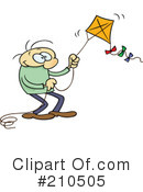 Royalty-Free (RF) kite Clipart Illustration #210505