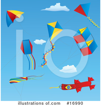 Kite Clipart #16990 by Rasmussen Images