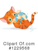 Royalty-Free (RF) Kitten Clipart Illustration #1229568
