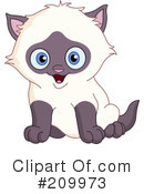 Royalty-Free (RF) Kitten Clipart Illustration #209973