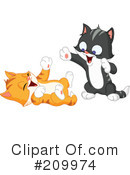Royalty-Free (RF) Kitten Clipart Illustration #209974